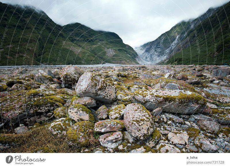 Franz Josef Glacier Valley Himmel Natur grün Wasser Pflanze Sommer Landschaft Wolken Ferne Umwelt Berge u. Gebirge Stein Felsen Regen Erde Urelemente