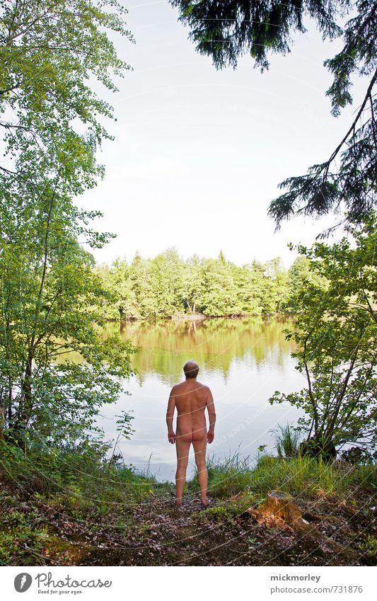 Ich brauch jetzt mal Ruhe Natur Mann Erholung ruhig Erwachsene Umwelt Leben Freiheit Glück Denken Gesundheit träumen maskulin Kraft Zufriedenheit Wachstum
