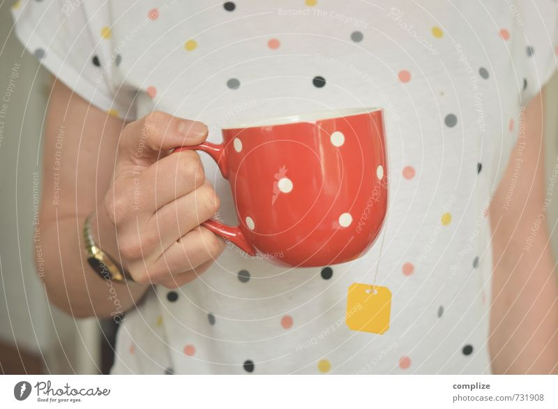 Handtaschen-Mode Ernährung Frühstück Kaffeetrinken Bioprodukte Getränk Heißgetränk Tee Tasse schön Gesundheit Gesunde Ernährung Wellness Sinnesorgane Erholung