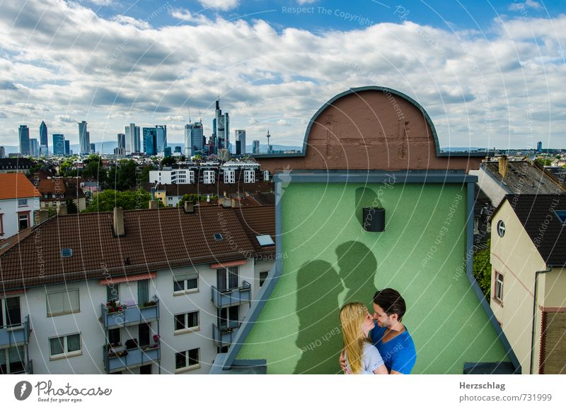 Du und Ich Mensch Paar Partner 2 festhalten Liebe sprechen träumen Gefühle Glück Vertrauen Schutz Warmherzigkeit Ehrlichkeit Küssen Liebespaar Frankfurt am Main