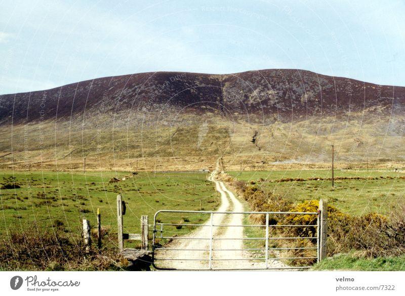Irische Weite grün Berge u. Gebirge Wege & Pfade Insel Hügel Weide Republik Irland Pferch Stall