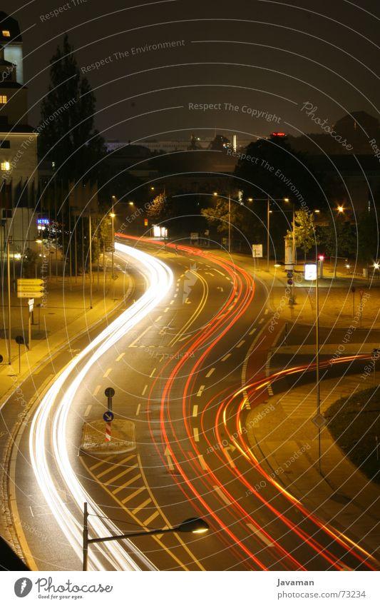 Long. Time. Langzeitbelichtung Dresden Nacht Verzögerung lanzeit blende 32 Straße Autobahn