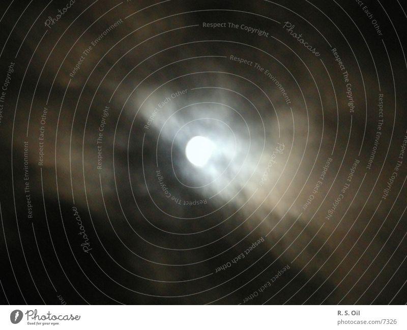 Mondschein Natur Himmel Wolken dunkel Mond Himmelskörper & Weltall Mondschein