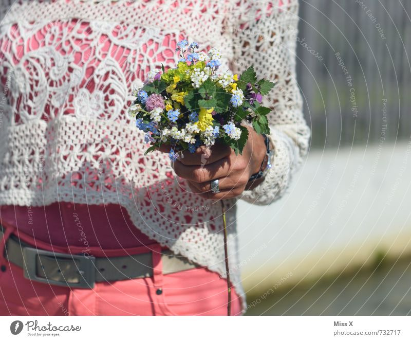 love love love Mensch Frau Kind Jugendliche Sommer Junge Frau Blume 18-30 Jahre Erwachsene Gefühle Liebe feminin Frühling Blüte Stimmung Geburtstag