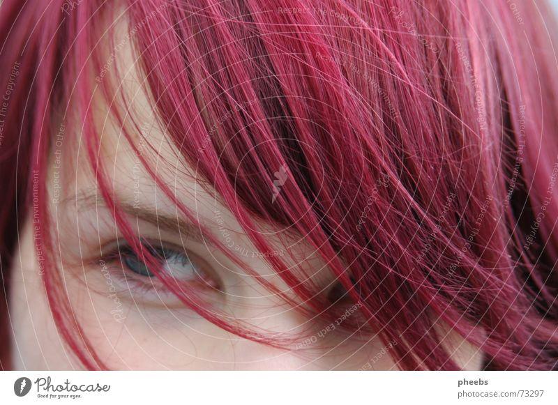 ein sommer wie damals... rosa Frau Augenbraue Porträt violett Haarsträhne Stimmung Sommer Wimpern Wind Haare & Frisuren Nase Haut abgescnitten Gesicht lachen