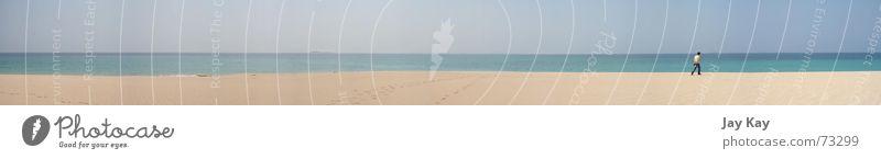 endless beach atmen mehrere Querformat Strand Panorama (Aussicht) Taiwan Einsamkeit Plage Idylle Sand ruhig Denken Suche gestrandet Frieden beige Menschenleer