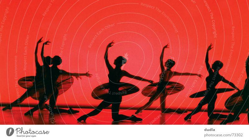 sterbender schwan rot schwarz Tanzen Bühne Balletttänzer Tänzer