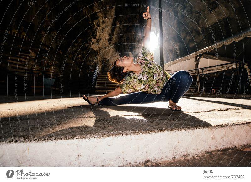 Batu Caves Yoga I Mensch Natur Gesicht feminin Haare & Frisuren Kopf Stimmung Körper Abenteuer heiß Theater