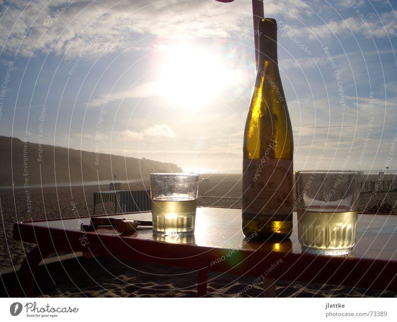 Stimmung in Portugal Strand Meer Erholung Stimmung trinken Wein Portugal Heimweh