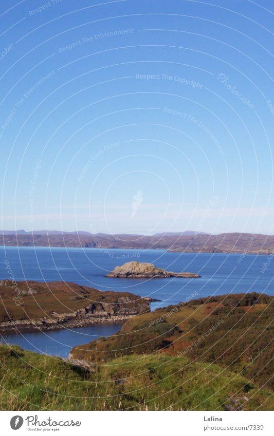 Scot_Inselpanorama Schottland Meer Wasser Inselansicht blau