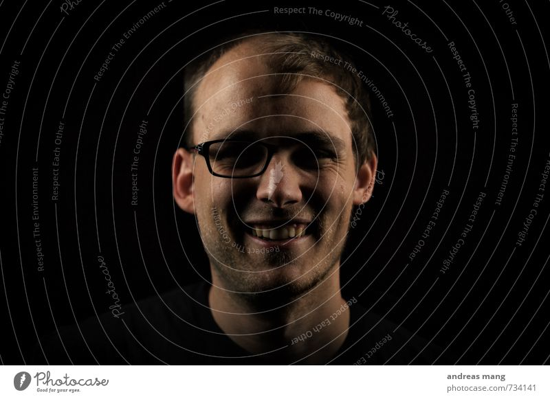 Brüdergesicht Mensch Jugendliche Junger Mann Freude 18-30 Jahre Erwachsene lachen außergewöhnlich Kopf maskulin Zufriedenheit verrückt Perspektive Kreativität