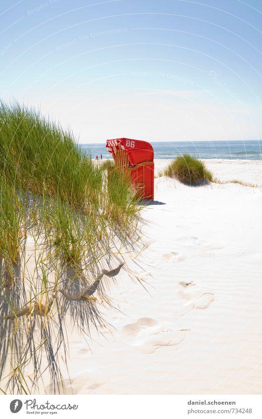 Sommer, Sonne, Urlaub ... Ferien & Urlaub & Reisen Tourismus Sommerurlaub Sonnenbad Strand Meer Insel Natur Landschaft Pflanze Küste Nordsee hell blau grün rot