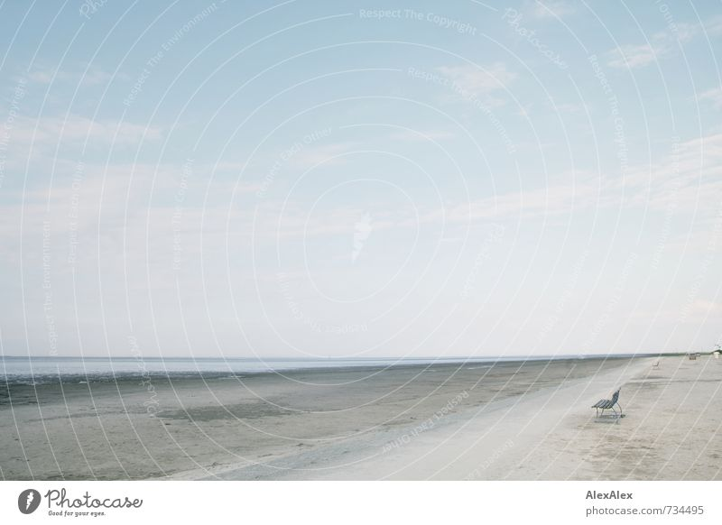 dahinten Ferien & Urlaub & Reisen Ausflug Ferne Freiheit Sommer Meer Natur Landschaft Sand Himmel Frühling Schönes Wetter Küste Strand Bucht Nordsee