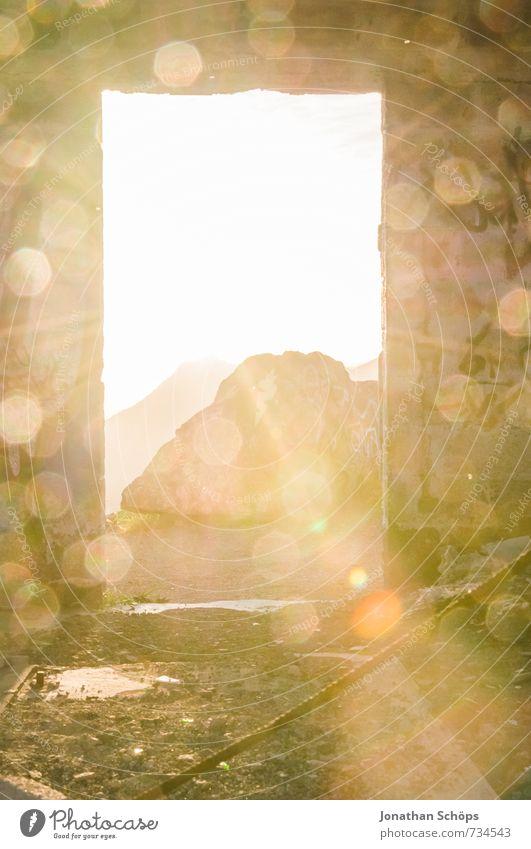 Himmelstür II Ferien & Urlaub & Reisen Himmel (Jenseits) Landschaft Berge u. Gebirge Glück Religion & Glaube Felsen Tür Insel Abenteuer Hoffnung Gott Weisheit