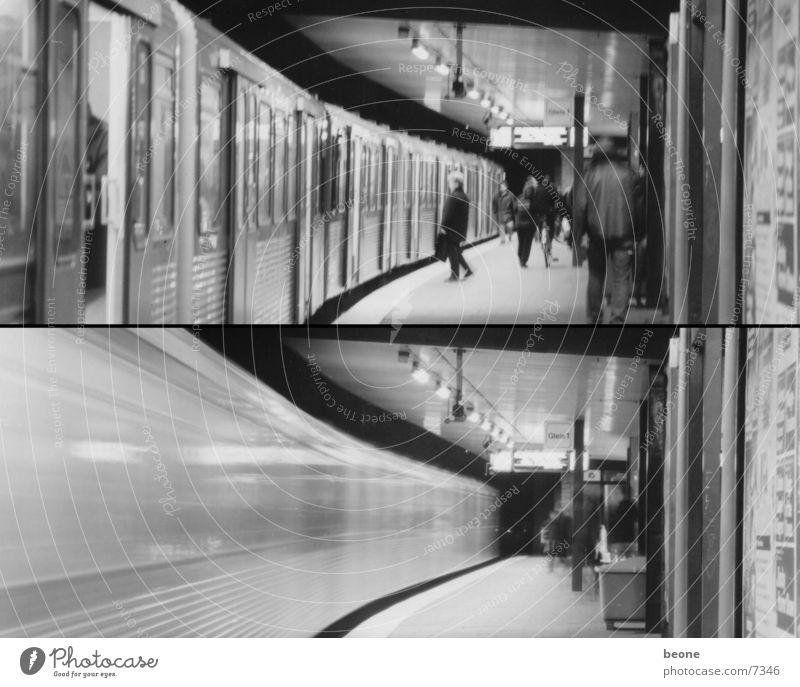 Hamburg>Metro U-Bahn Lomografie train movement Stadt