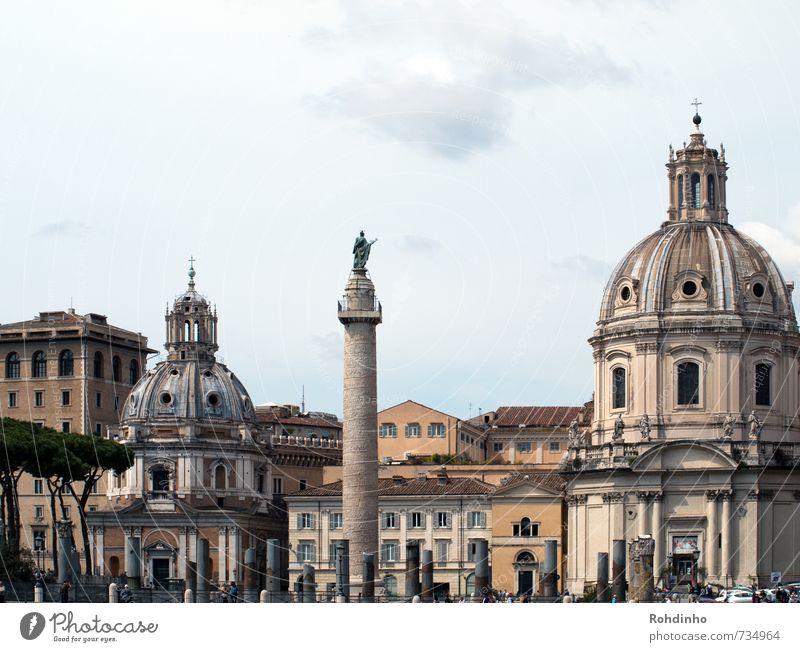 ROMA - Kuppeln & Säulen Ferien & Urlaub & Reisen Stadt Haus Architektur Gebäude Religion & Glaube Fassade Tourismus authentisch Europa Ausflug Kirche Dach