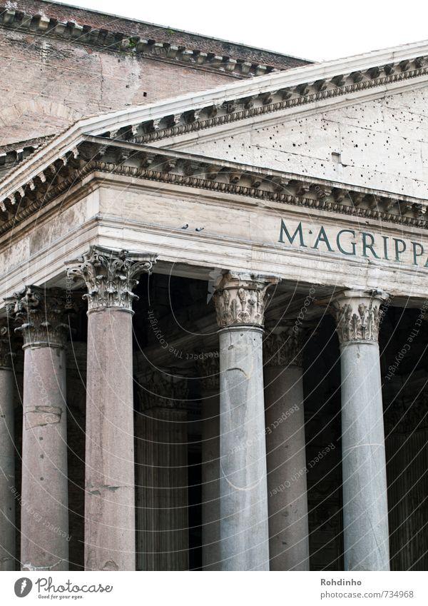 ROMA - Pantheon Stadt Haus Wand Architektur Mauer Gebäude Stein Fassade Europa ästhetisch Kultur historisch Italien Burg oder Schloss Bauwerk Denkmal