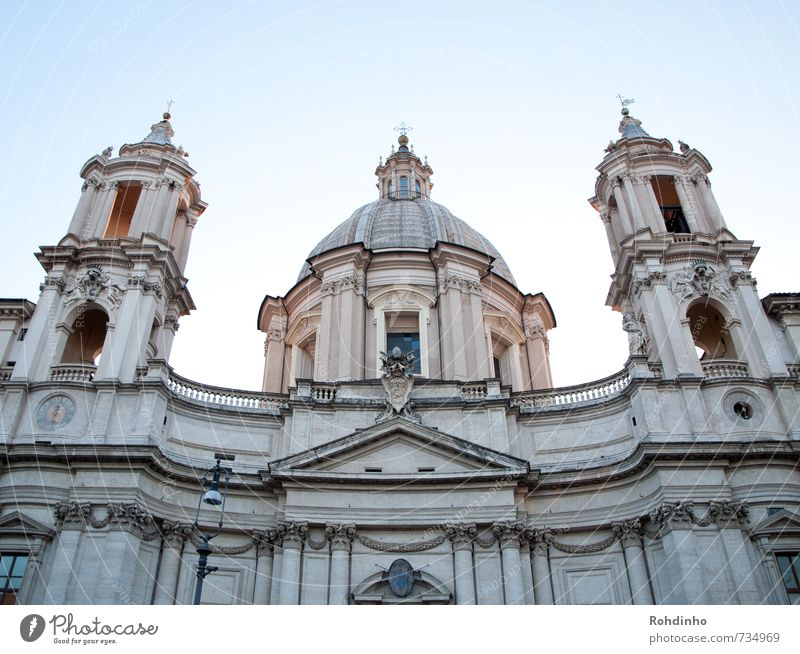 ROMA - Sant'Agnese in Agone Ferien & Urlaub & Reisen alt Stadt schön Sommer Architektur Gebäude Religion & Glaube Fassade Tourismus Europa ästhetisch Ausflug