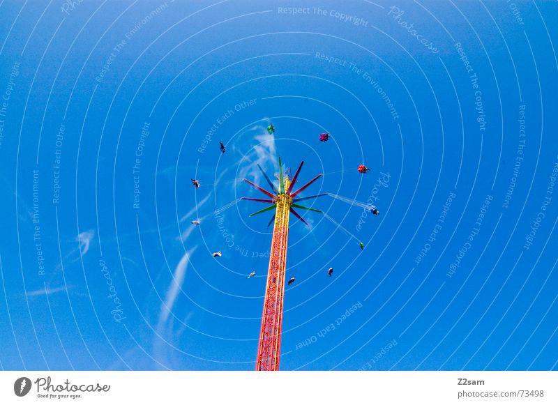 Wies´n blowball Himmel blau Freude hoch fahren Niveau München Rauch Löwenzahn Jahrmarkt drehen Bayern Tradition Oktoberfest