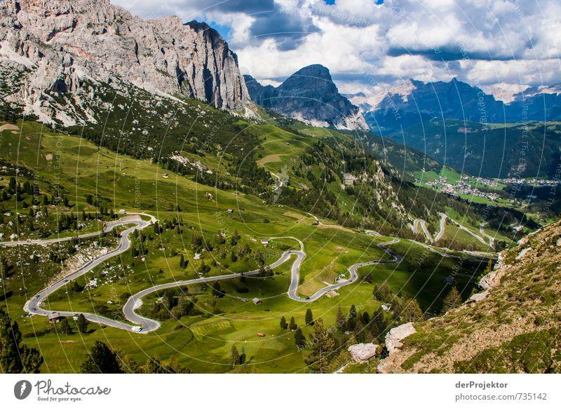 Schlangenlinien fahren mal anders Natur Ferien & Urlaub & Reisen Pflanze Sommer Landschaft Ferne Umwelt Berge u. Gebirge Straße Gefühle Freiheit Felsen Verkehr