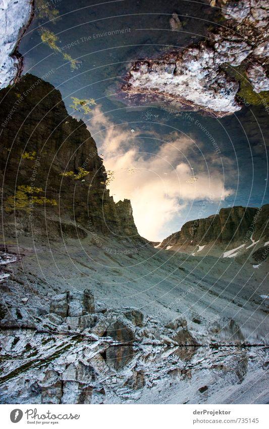 Sehr steiniger Himmel Natur Ferien & Urlaub & Reisen blau Pflanze Sommer Landschaft Wolken Ferne Umwelt Berge u. Gebirge Gefühle grau Freiheit See Felsen