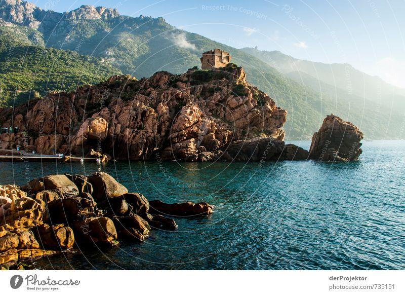 Tour de Porto Sonnenaufgang -Querformat alt Sommer Meer Landschaft Umwelt Berge u. Gebirge Gefühle Küste Felsen Wellen gold Tourismus wandern Insel Urelemente