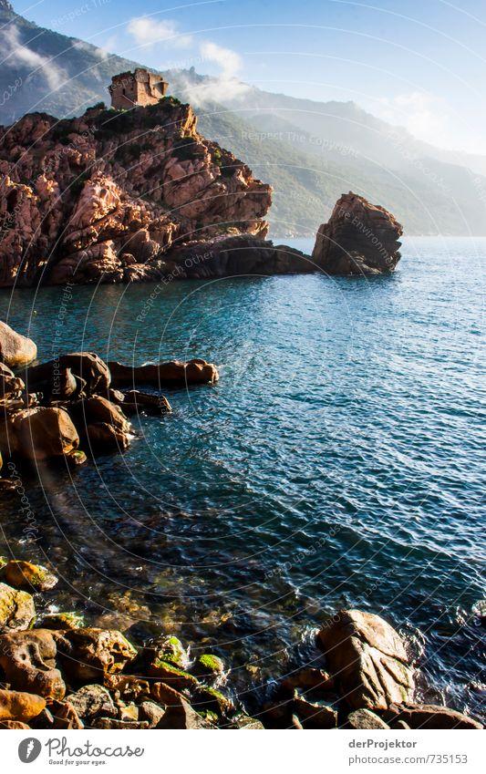 Tour de Porto Sonnenaufgang Natur Ferien & Urlaub & Reisen alt Pflanze Meer Landschaft Umwelt Berge u. Gebirge Küste Felsen rosa Wellen Tourismus authentisch
