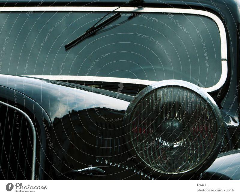 die Mafia ist unterwegs alt Wolken Lampe PKW elegant Verkehr Technik & Technologie Schmuck Frankreich Scheinwerfer Oldtimer Krimineller Mörder Windschutzscheibe