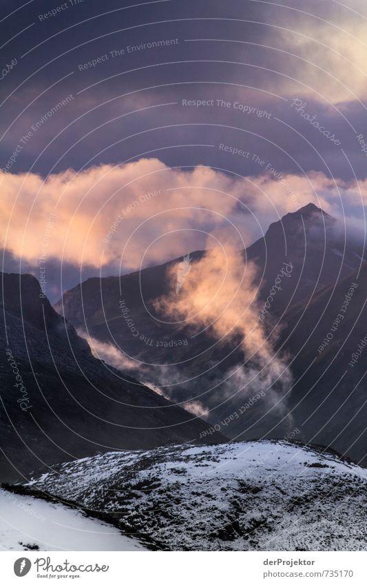 Rosa Wolken Ferien & Urlaub & Reisen Tourismus Abenteuer Ferne Freiheit Berge u. Gebirge wandern Umwelt Natur Landschaft Pflanze Urelemente Gewitterwolken