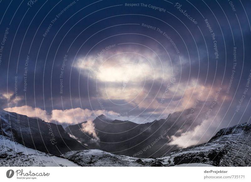 Unwetterpanorama Ferien & Urlaub & Reisen Tourismus Abenteuer Ferne Freiheit Berge u. Gebirge wandern Umwelt Natur Landschaft Pflanze Urelemente Wolken