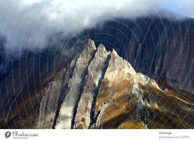 Dreizack Bundesland Tirol Wolken Bergsteigen Gipfel Alpen Stein Berge u. Gebirge