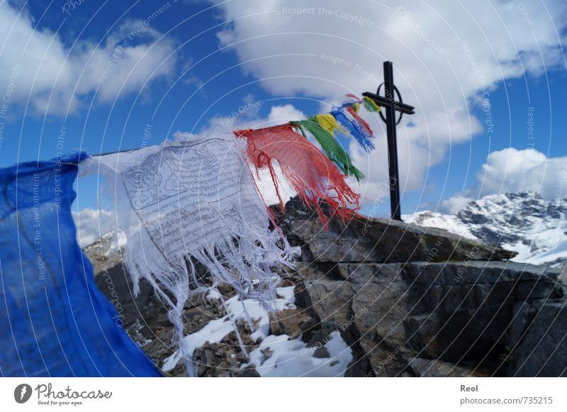 Dem Himmel nah Himmel Natur blau Sommer Landschaft Wolken Ferne Berge u. Gebirge Sport grau Religion & Glaube Stein Wetter Erde wandern Schönes Wetter