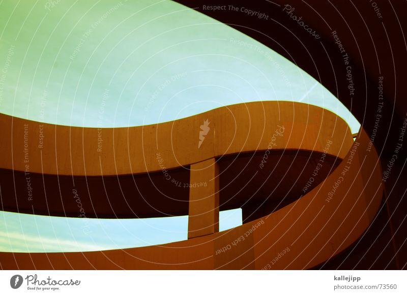 spaceship six Autobahnauffahrt Fußgänger Verkehr organisch Raumfahrt NASA Raketenabschussrampe Beton Schwung fahradweg Schnecke Weltall raumfahrtzeug kallejipp