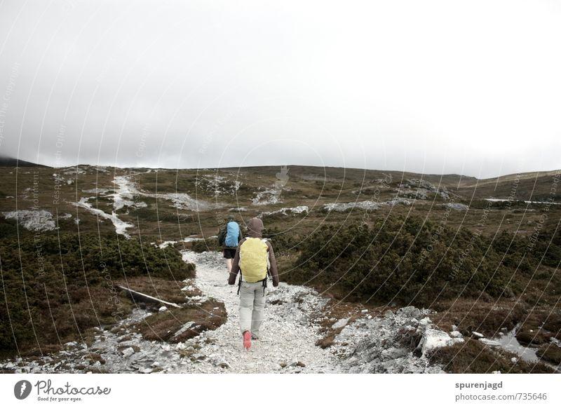 Bergluft Mensch Landschaft Berge u. Gebirge Bewegung wandern einzigartig Abenteuer Unendlichkeit entdecken Expedition Tatkraft