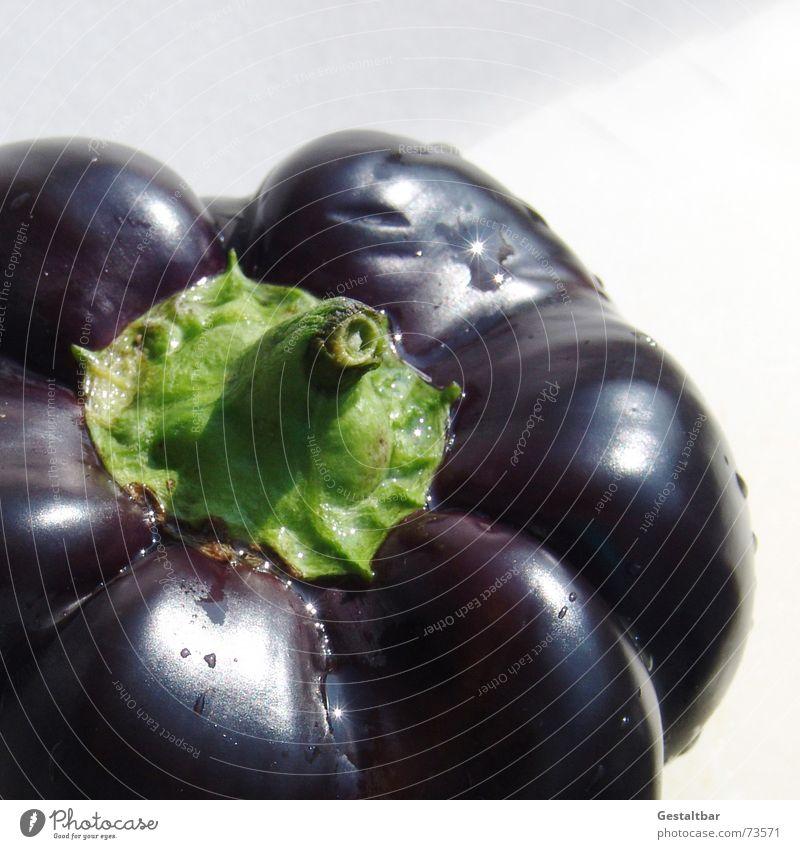 Nachtschattengewächs 1 Paprika Ernährung Gesundheit Vitamin frisch lecker schwarz violett gestaltbar Gemüse Lebensmittel