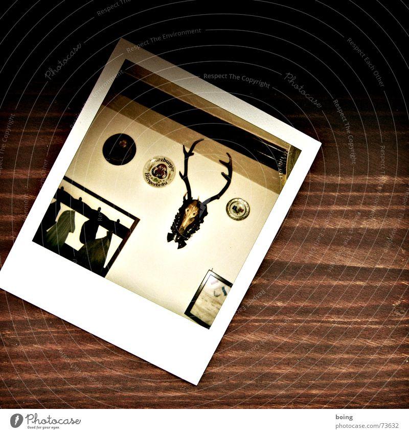 einmal Klassenclown - immer Klassenclown Polaroid Gastronomie Club Bier Restaurant Jacke Hut historisch Horn Safari Vesper Reh Eiche Fichte Kneipe rustikal