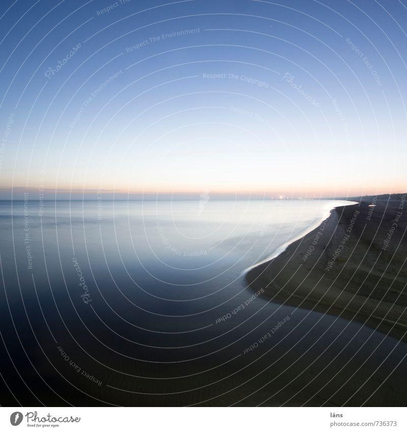 am morgen Himmel Natur blau Wasser Meer Einsamkeit Erholung ruhig Strand Umwelt Küste Sand Insel Urelemente Wolkenloser Himmel Ostsee