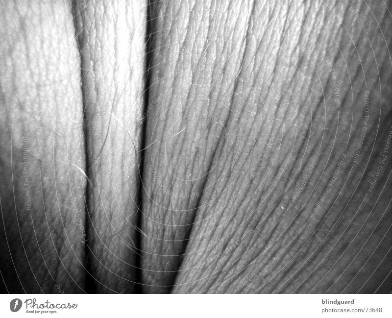 Only skin in black and white Mensch alt weiß schwarz Leben grau Haare & Frisuren Haut trist Lebewesen Falte atmen Gelenk Pore