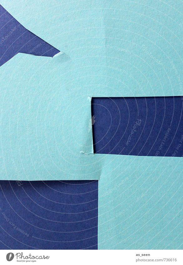 Basteln Kunst Kunstwerk Printmedien Papier ästhetisch authentisch eckig Spitze blau türkis Bildung Design Farbe Idee Kindheit Kreativität modern Ordnung Stil