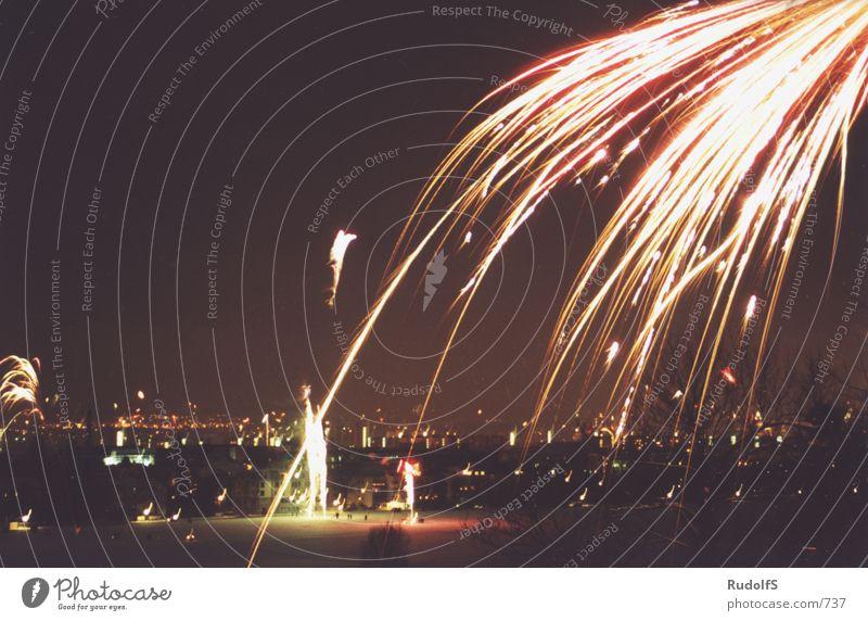 Silvester 2001 Silvester u. Neujahr Nacht Club Party Feuerwerk