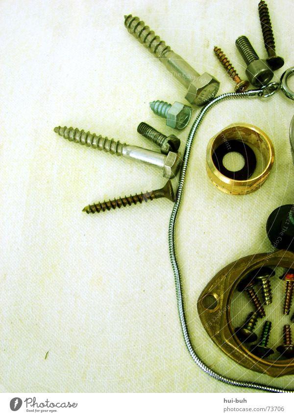 Der Schraubenmensch - wahahaaa Strukturen & Formen Eisen bewegungslos böse Haaransatz seltsam gedreht drehen Drehung Erholung Pause Mund Blick Metall verrückt