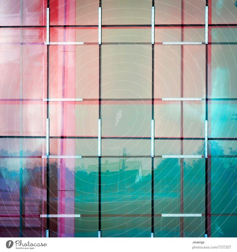 Gespiegelt Farbe Stil Linie Lifestyle Design elegant modern Glas verrückt einzigartig Coolness trendy Surrealismus Raster