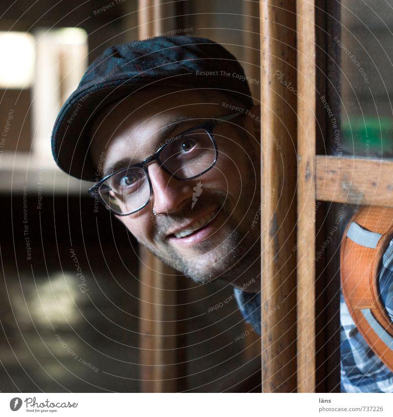 na endlich Mensch Mann alt Erwachsene lachen natürlich Glück Kopf Fröhlichkeit Lächeln beobachten Kommunizieren Lebensfreude Freundlichkeit Hoffnung Hilfsbereitschaft