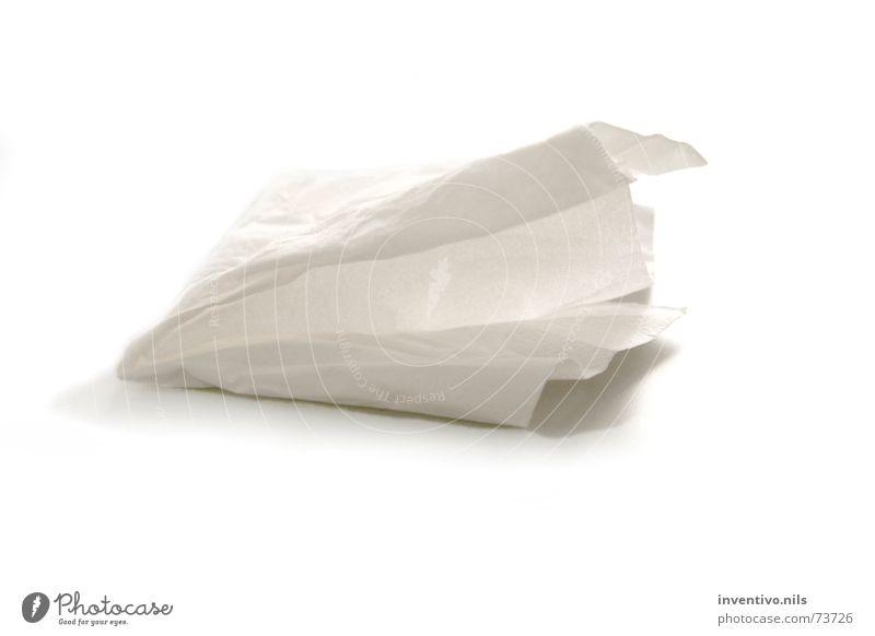 Tempo Papier Objektfotografie Taschentuch Zellstoff Vor hellem Hintergrund