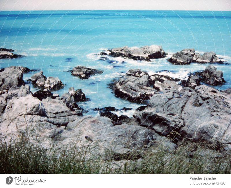 Neuseeland Südinsel Meer blau Landschaft Küste Insel türkis Neuseeland traumhaft