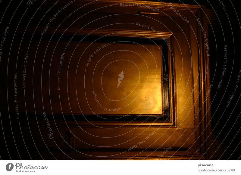 erscheint Lampe Raum Tür gold Tor Quadrat Angelrute
