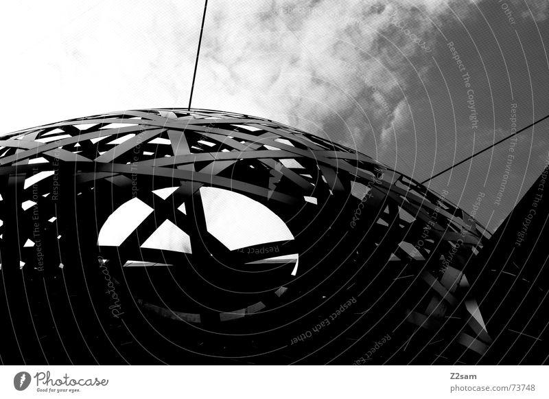 stachelschwein Himmel rund Netz Kugel Loch Kunstwerk abstrakt