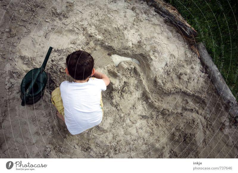 creative director (buddeln VII) Mensch Kind Ferien & Urlaub & Reisen Wasser Freude Leben Gefühle Junge Spielen Sand Kopf Freizeit & Hobby Kindheit Rücken