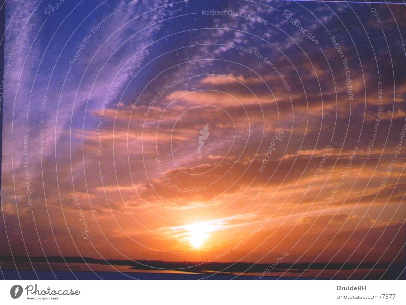 Schwedens Sommersonne Himmel Sonne Wolken