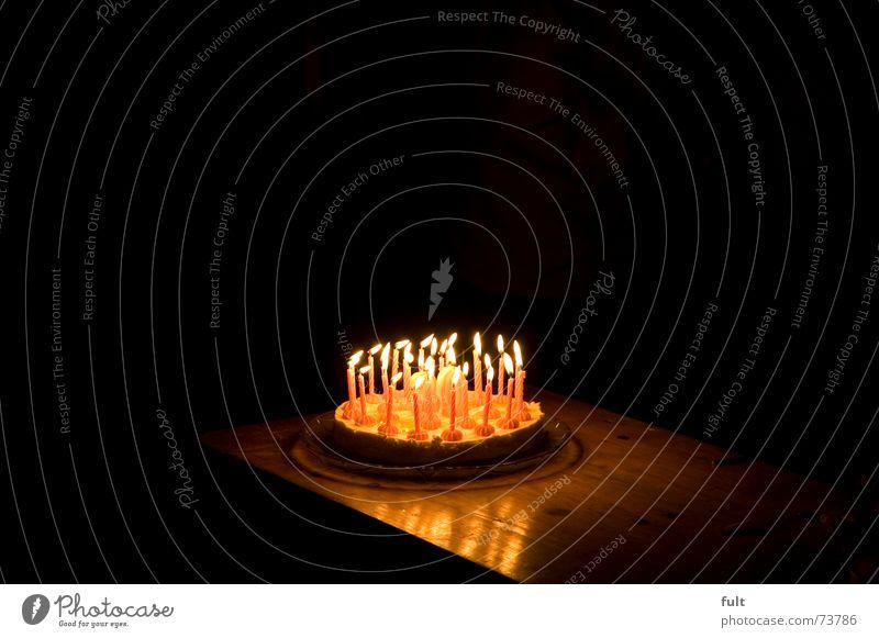 alles gute zum geburtstag Kuchen Freude Party Feste & Feiern Brand Kerze brennen 30 Torte Geburtstagstorte